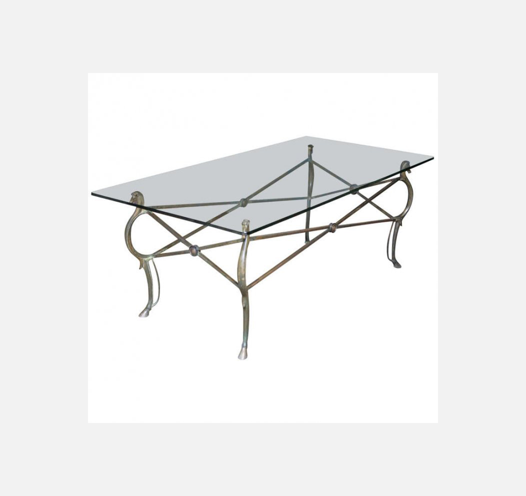 Maison Jansen Bronze Seahorses Coffee Table Galleria Esposito - Seahorse coffee table