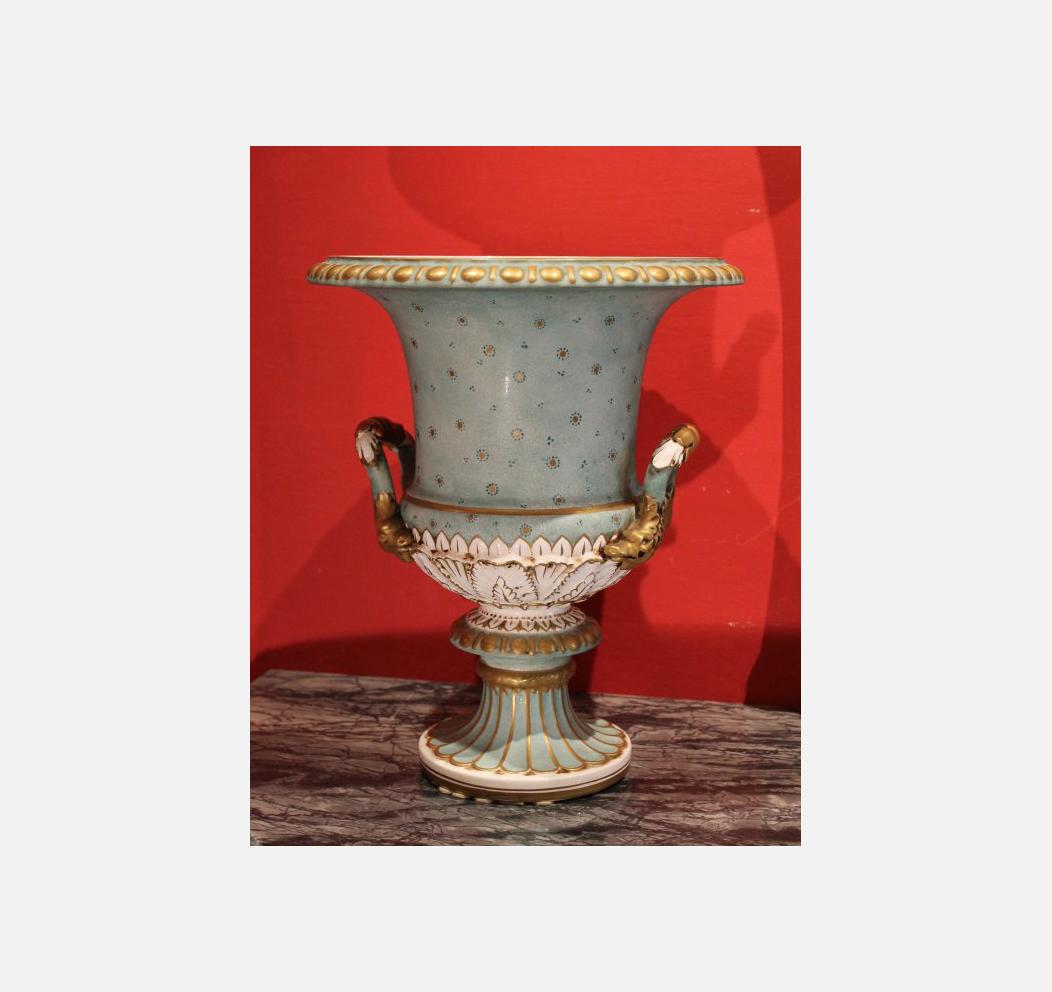 Vaso porcellana di capodimonte galleria esposito for Vaso capodimonte